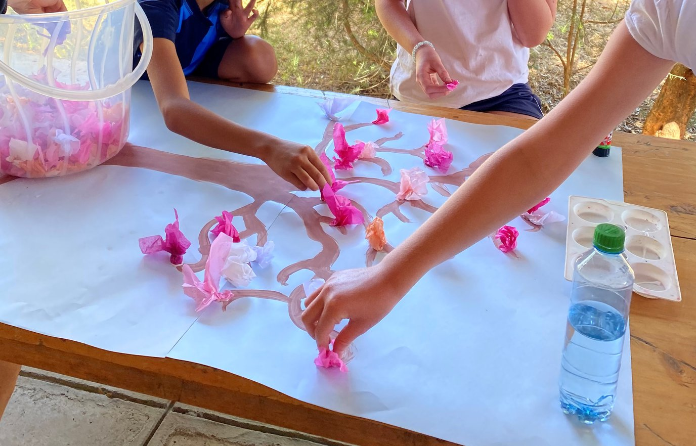 Year 6 Tissue Paper Chery Blossom Trees .jpeg
